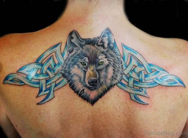 Wolf And Celtic Tattoo