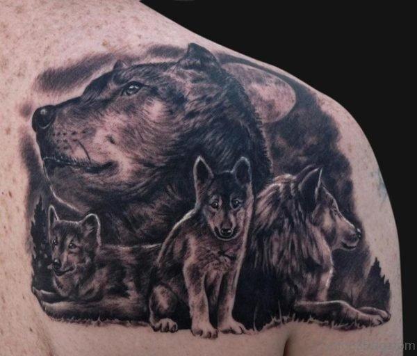Wolf Family Tattoo