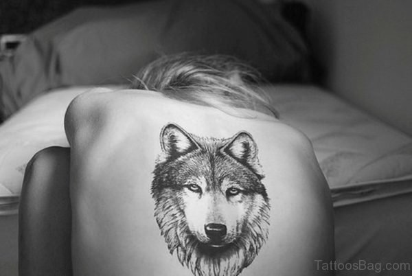 Wolf Tattoo On Back