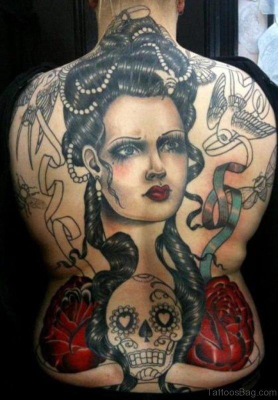 Women Skull Tattoo