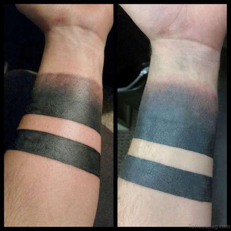 46 Amusing Arm Band Tattoos On Wrist