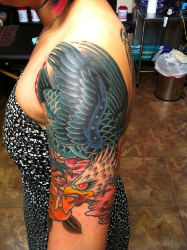 Wonderful Eagle Tattoo Design