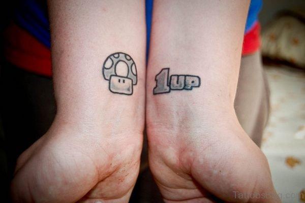 Wonderful 1 Up Wrist Tattoo