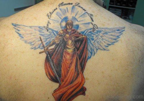 Wonderful Angel Tattoo On Back