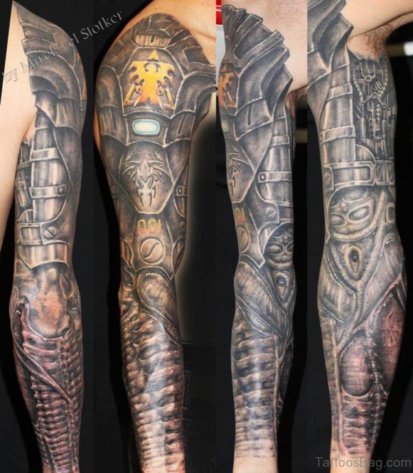 Wonderful Bio Mechanical Tattoo