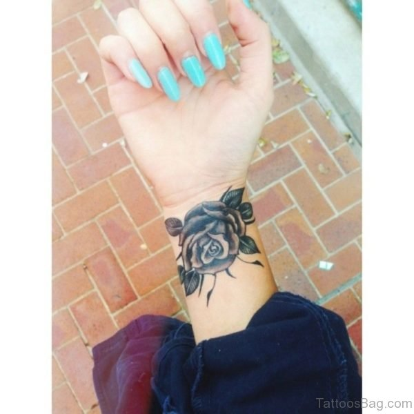 Wonderful Black Rose Tattoo