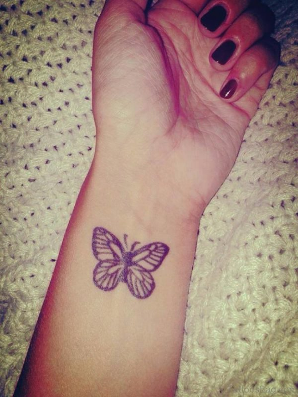 Wonderful Butterfly Tattoo On Wrist