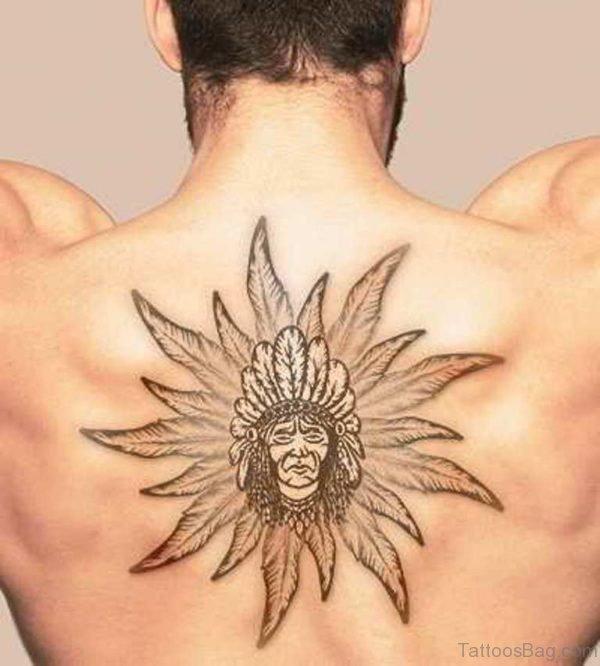 Wonderful Feather Tattoo On Back