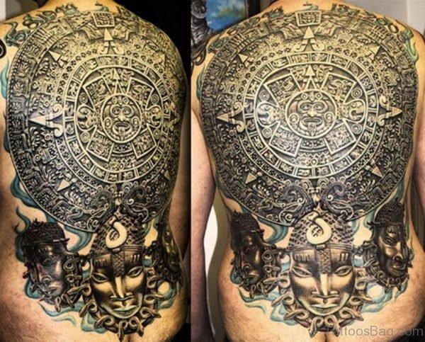 Wonderful Full Back Tattoo