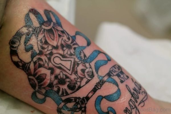 Wonderful Heart Lock And Key Tattoo