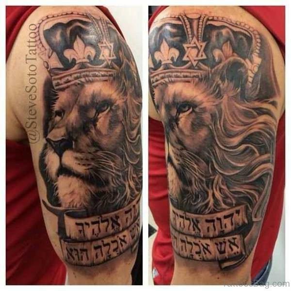 Wonderful King Lion Tattoo