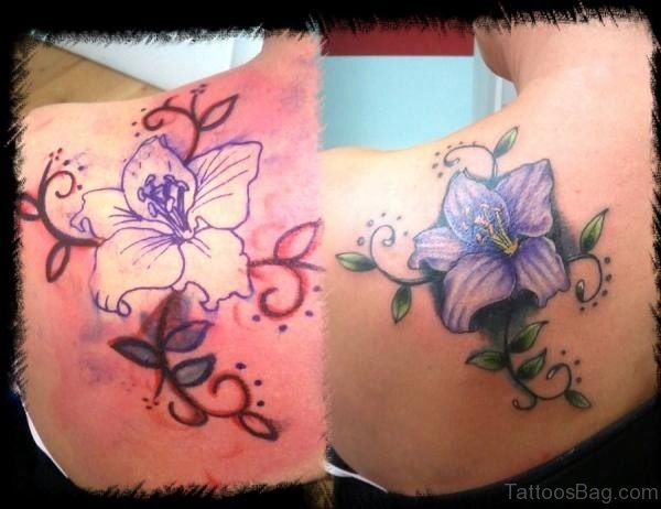 Wonderful Lily Flower Tattoo
