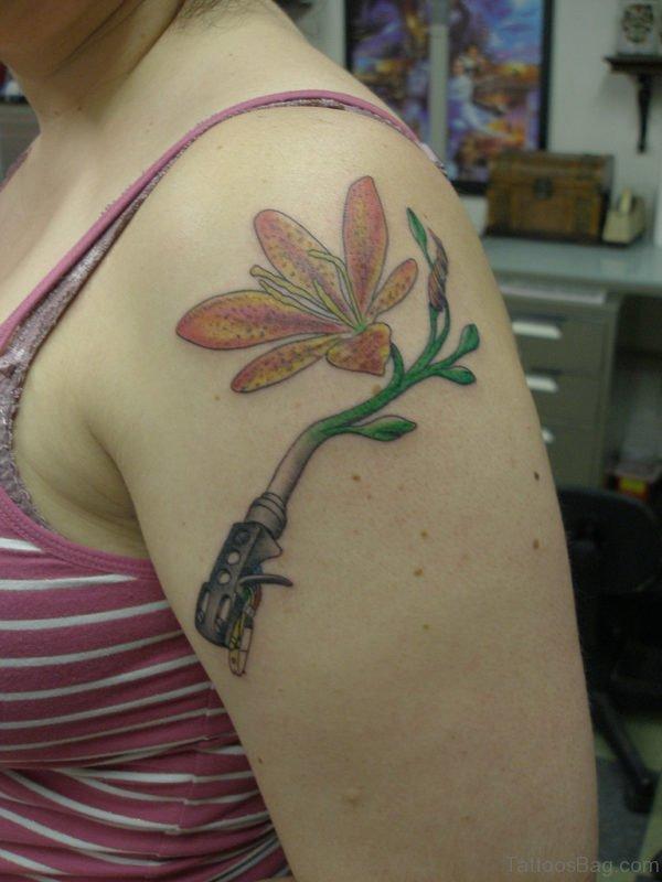 Wonderful Lily On Left Shoulder