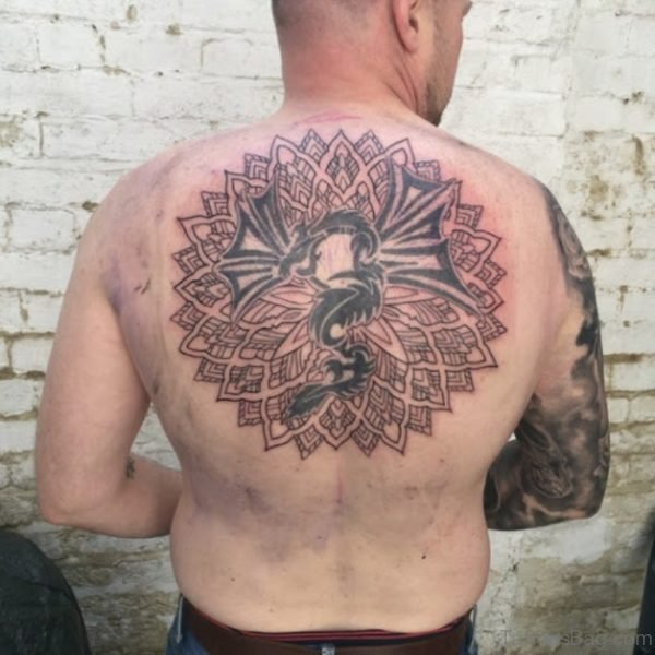 Wonderful Mandala Tattoo On Back
