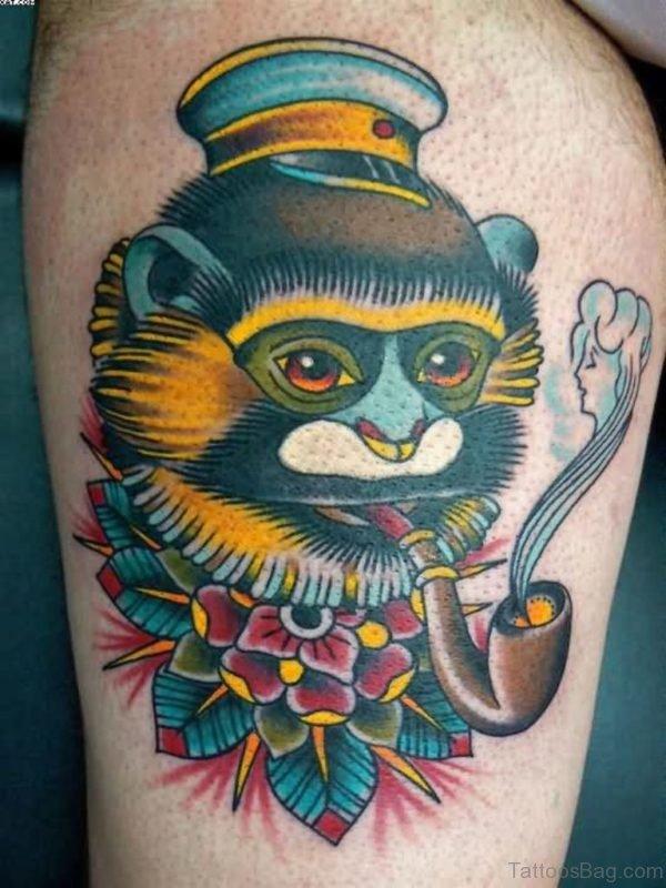 Wonderful Monkey Shoulder Tattoo