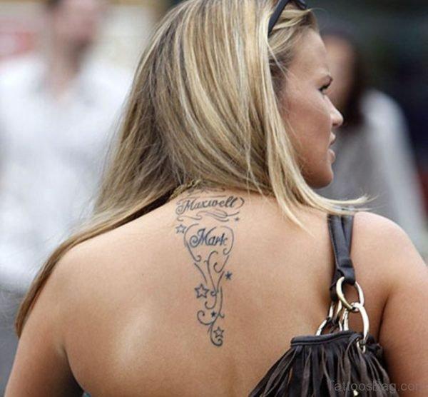Wonderful Neck Tattoo For Women