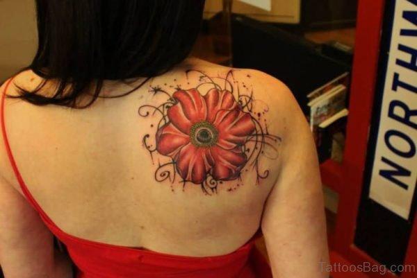 Wonderful Right Back Poppy Tattoo