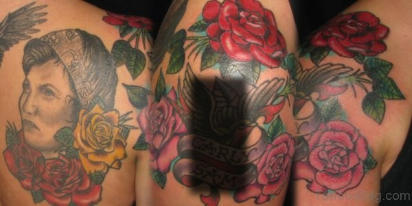 Wonderful Rose Flower Tattoo