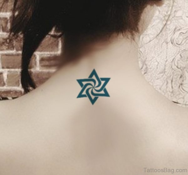 Wonderful Stars Tattoo On Neck