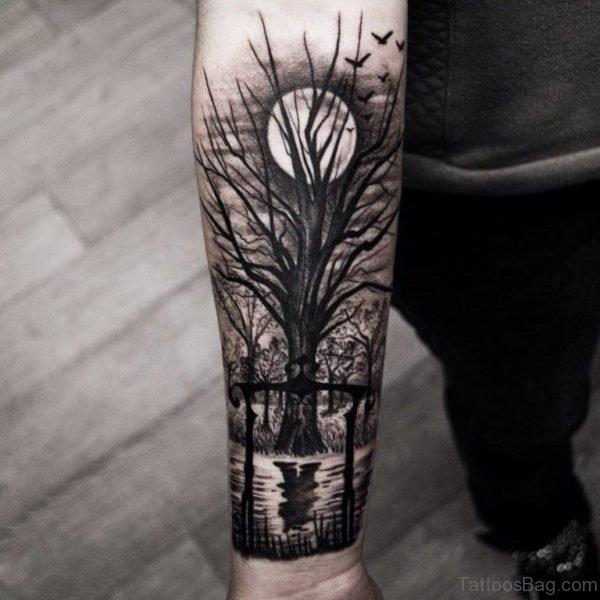 Wonderful Tree Tattoo Design
