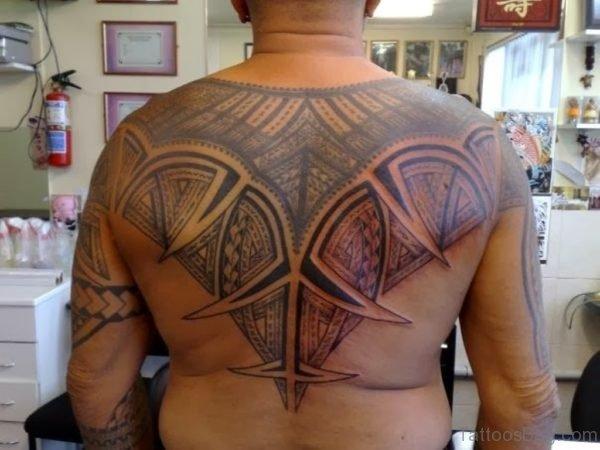 Wonderful Tribal Tattoo On Back