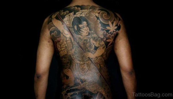 Wonderful Warrior Tattoo On Back