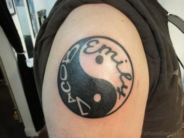 Wonderful Yin Yang Tattoo Design