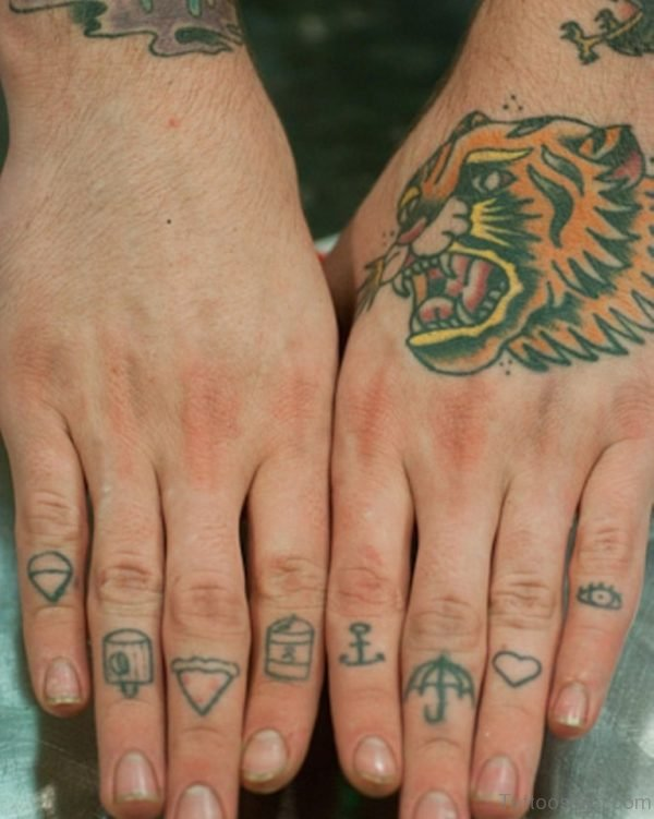 knuckle Tattoo Design