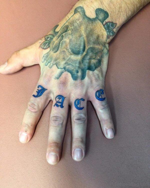 Wonderful knuckle Tattoo