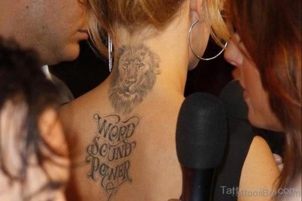 Word Sound Power Tattoo
