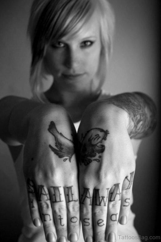 Word Tattoo On Finger