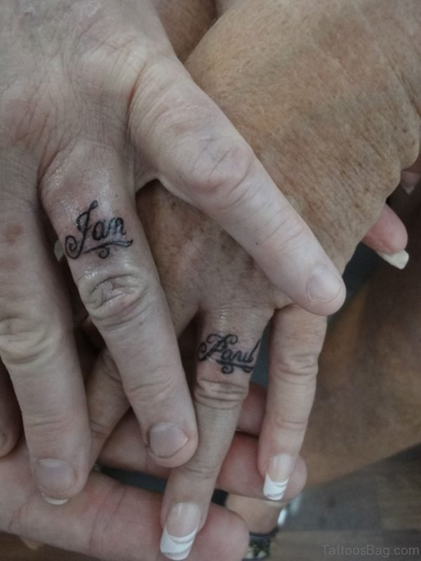 Word Tattoo On Finger