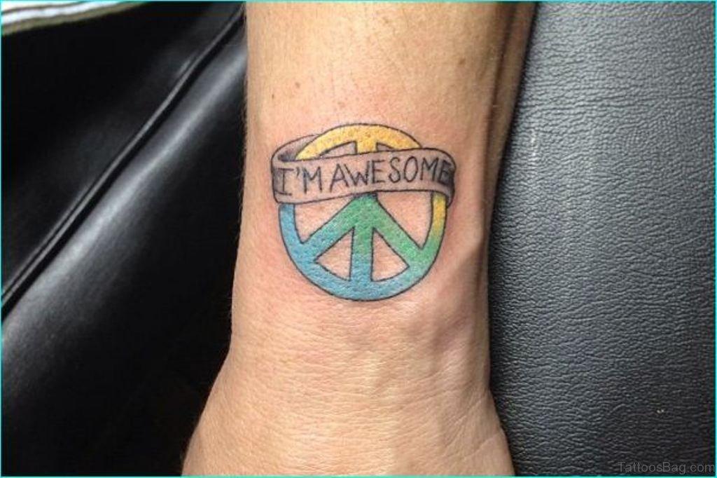 73 excellent peace tattoos for wrist. Black Bedroom Furniture Sets. Home Design Ideas