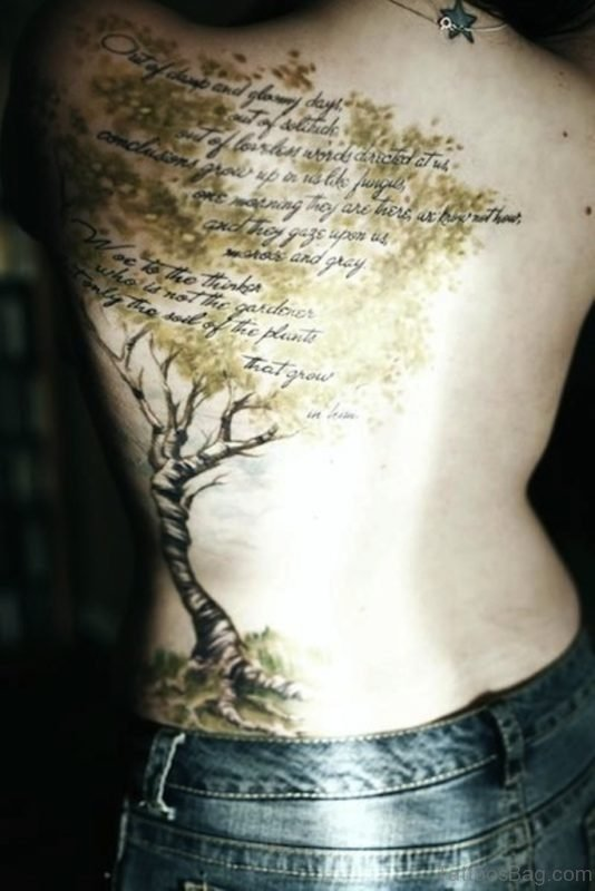 Wording And Tree Tatto