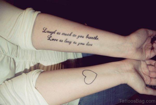 Wording Tattoo Design On Wrist