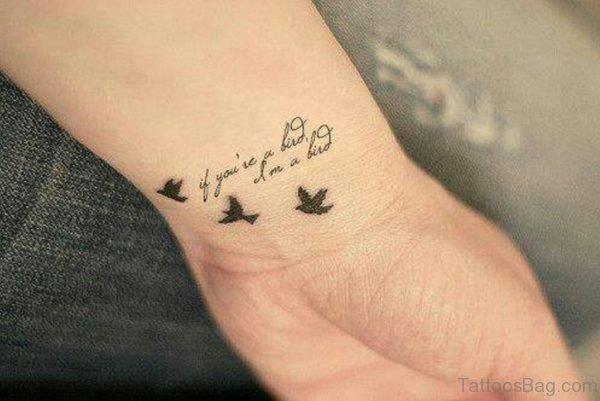 Words And Birds Tattoo