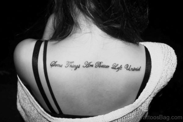 Wording Tattoo On Back