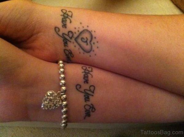 Wrist Couple Tattoo