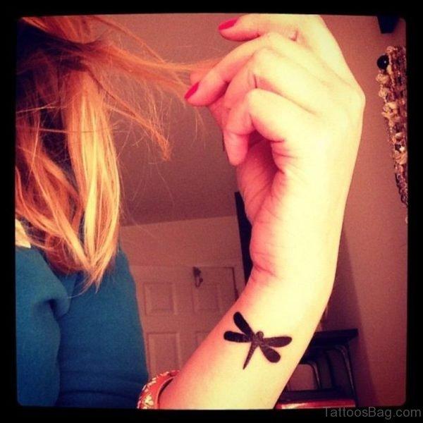 Wrist Dragonfly Tattoo