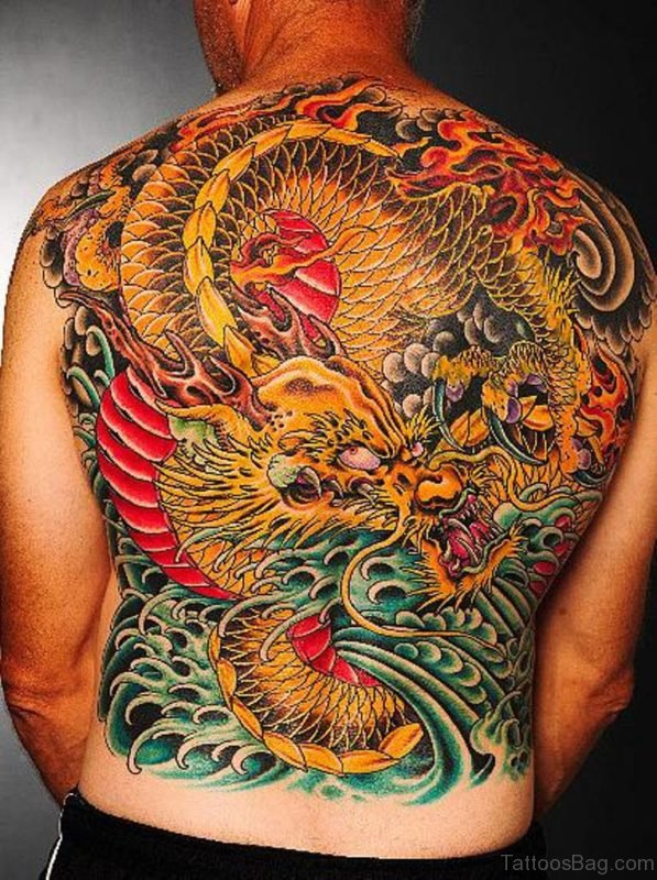 Yellow Dragon Tattoo