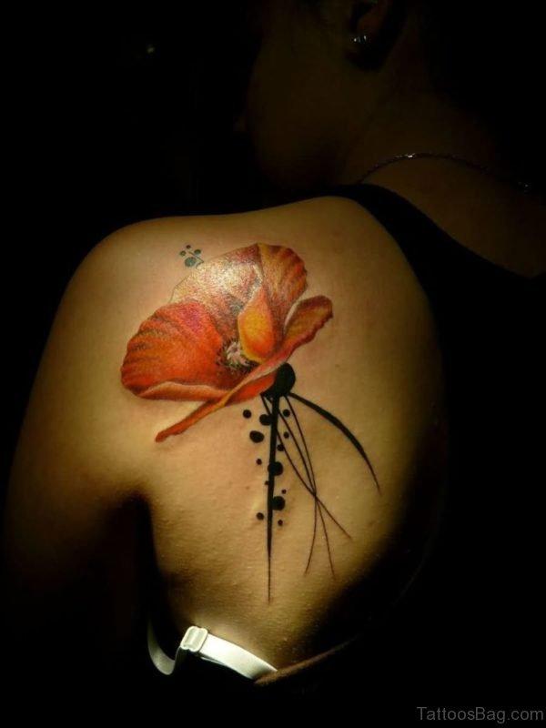 Yellow Poppy Tattoo