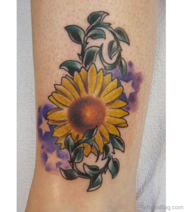 Yellow Sunflower Tattoo