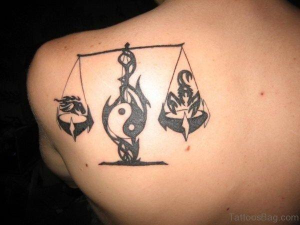 Yin Yang Stylish Tattoo