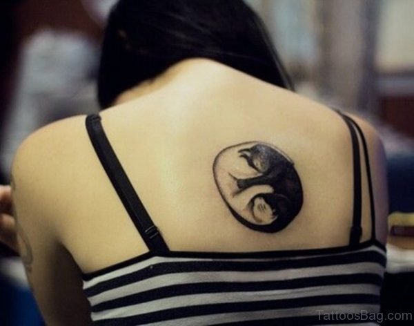 Ying Yang Cat Tattoo