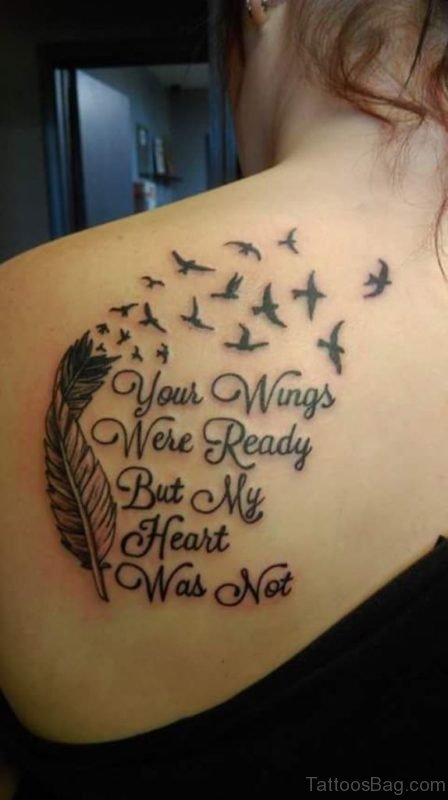 Your Wings Were Ready Memorial Angel Tattoo