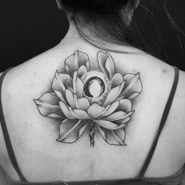 Zen Flower Tattoo On Back