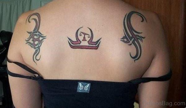 Zodiac Shoulder Back Tattoo-zst1124