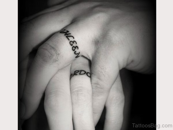 Beautiful Finger Tattoo Design