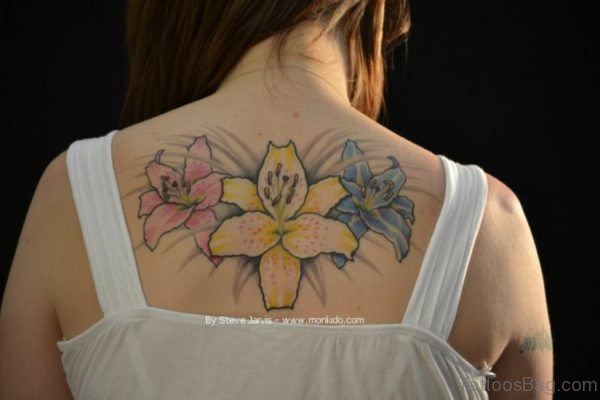 Fantastic Lily Flower Tattoo