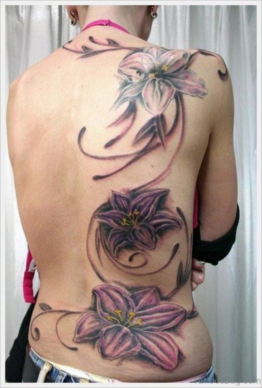 Grey Flower Tattoo